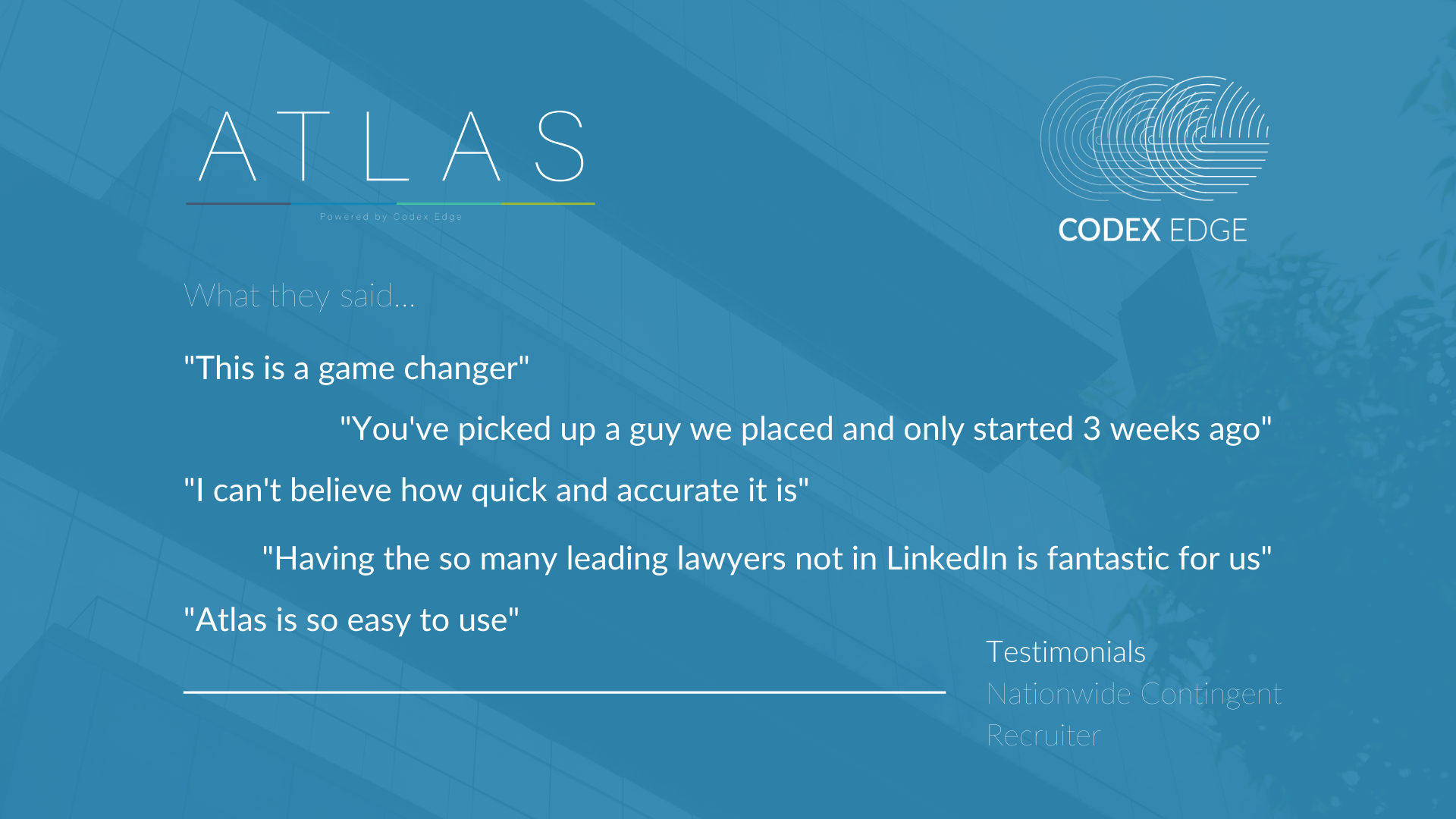 Atlas testimonials for Graham 1